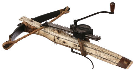 similarities between crossbows and ballistae and springalds